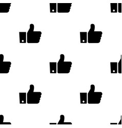 seamless pattern with like black silhouette flat vector image vector image