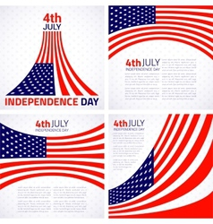 Set of Stylish American Independence day design vector image vector image