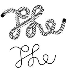 black rope the vintage symbol vector image vector image