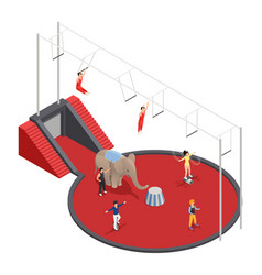 circus manege isometric composition vector image