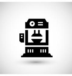 Hydraulic press machine icon vector