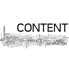 what is private label content part text word vector image