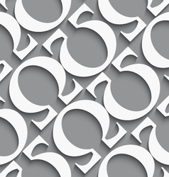 White diagonal seamless background with omega vector image vector image
