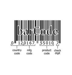 barcode decoding numeric code vector image vector image