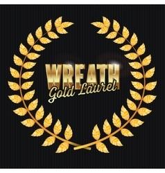 Gold laurel shine wreath award design vector