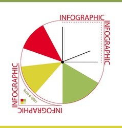 Infographic from color segments and hours vector image