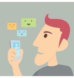 Man Smart Chat vector image