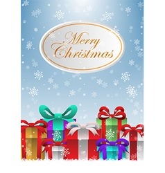 Merry Christmas holiday background with gift boxes vector image vector image