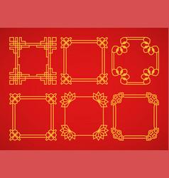 square asian retro frames set vector image