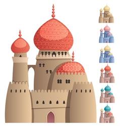 Arabian Castle on White vector image