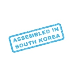 Assembled In South Korea Rubber Stamp vector image