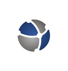 atom logo design template vector image