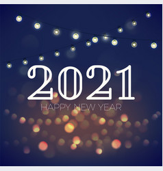 beautiful background on happy new year 2021 vector image