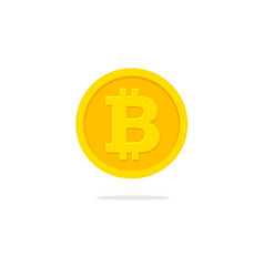 Bitcoin coin icon flat cartoon vector