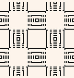 black and white geometric seamless digital pattern vector image