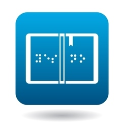 Book written in Braille icon in simple style vector