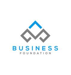 Business logo design letter m initial vector