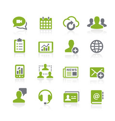 Business network icons natura series vector