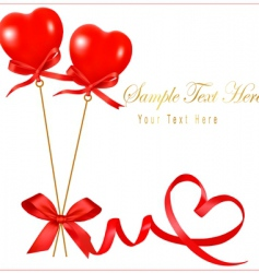 card with valentine background copy vector image
