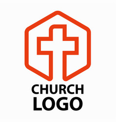christian churches logo line art in the form of a vector image