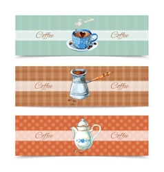 Coffee Banners Set vector