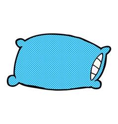 Comic cartoon pillow vector