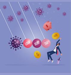 Coronavirus covid19-19 pandemic causing financial vector