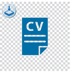 Cv resume icon for web and mobile vector