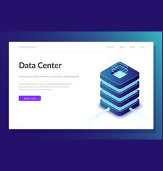 data center web template server room vector image