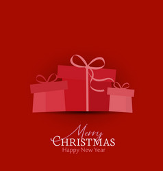 decorative christmas gifts vector image