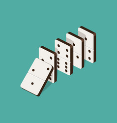Domino effect isometric vector