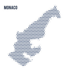 dotted map of monaco isolated on white background vector image