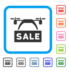 drone sale banner framed icon vector image