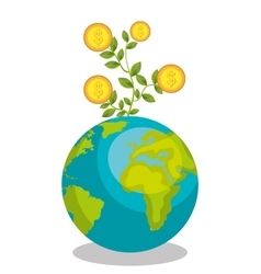 Economic growth design vector