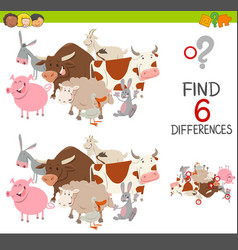 educational finding differences game vector image