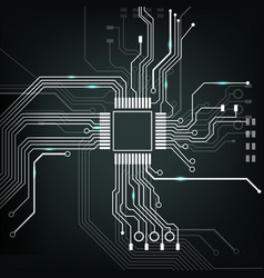 electronic circuit board vector image