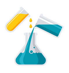 experiment or chemistry icon vector image