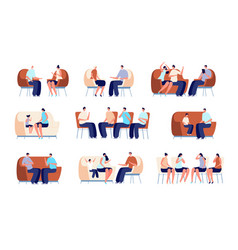 family psychotherapy couple therapy people vector image