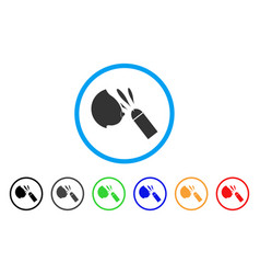 Female breast sperm ejaculation rounded icon vector