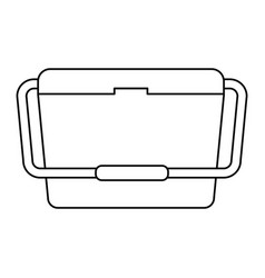 Food cooler icon vector