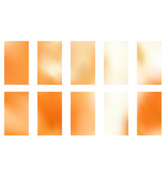 Gold blurred gradient style backgrounds abstract vector