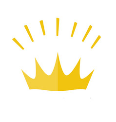gold yellow shining crown icon symbol of vector image