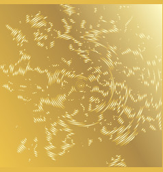 golden background with grunge concentric circles vector image