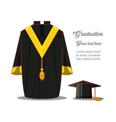 Graduation card with suit uniform vector