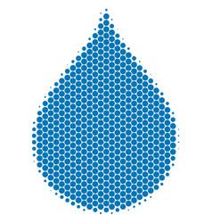 halftone dot drop icon vector image