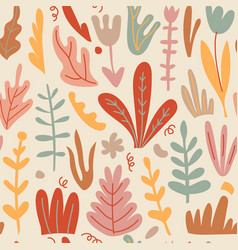 hand drawn floral seamless pattern home vector image