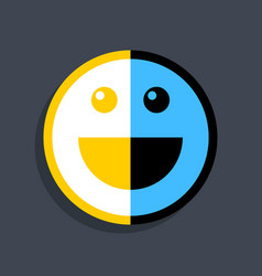 happy smiling face icon in flat style vector image