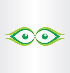human eyes stylized icon vector image