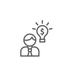 Idea man outline icon elements business line vector