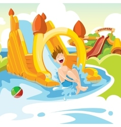 inflatable castles and children hills vector image
